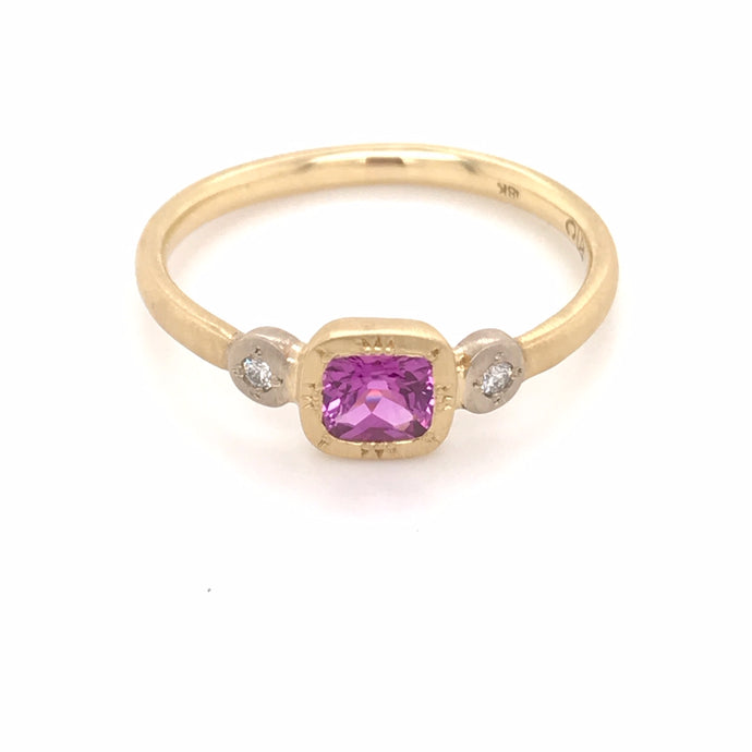 Pink Sapphire Cushion Ring | Art + Soul Gallery