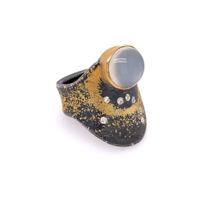 Moonstone and Diamond Ring | Art + Soul Gallery