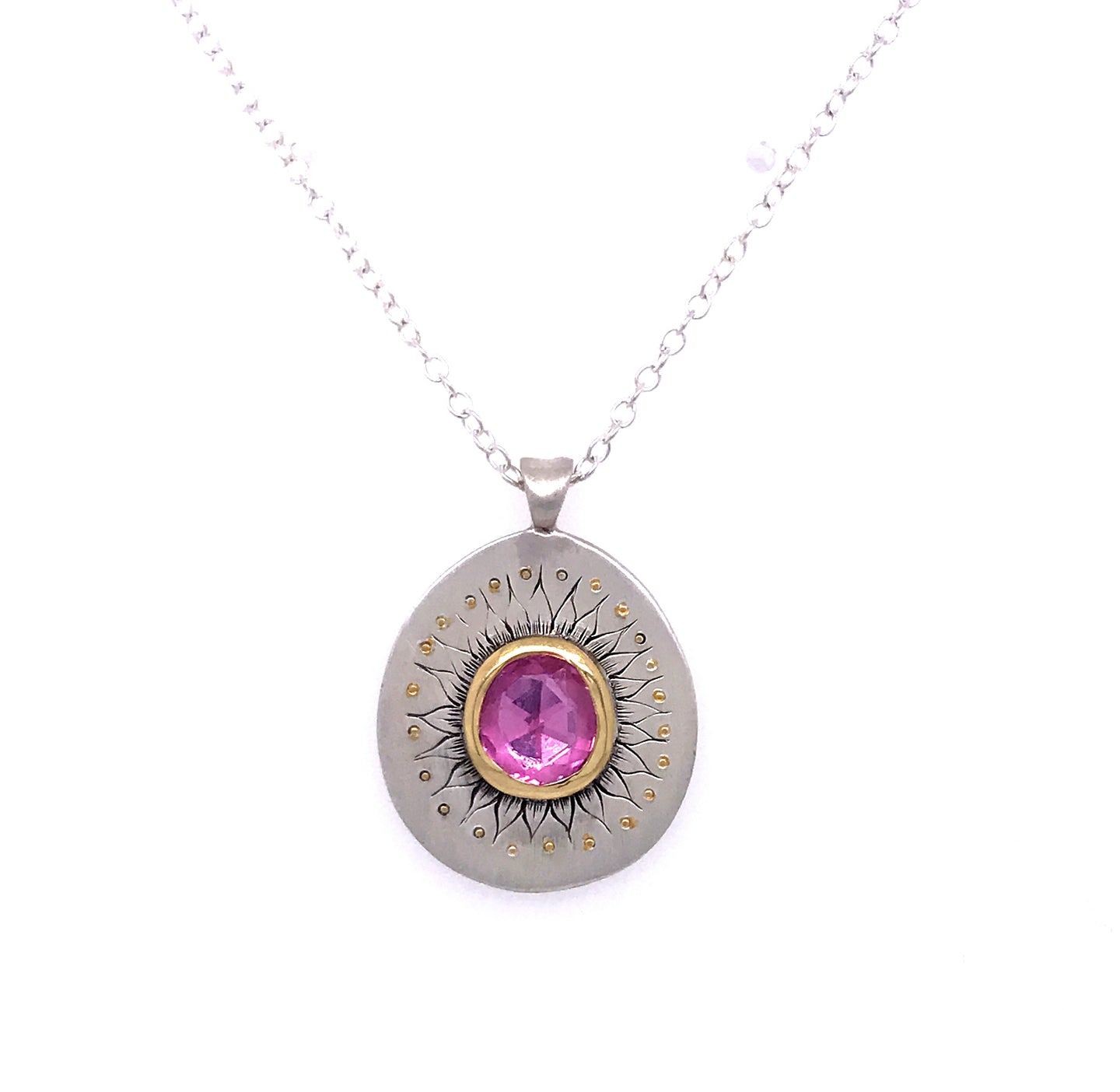 Pink Sapphire Soleil Pendant | Art + Soul Gallery