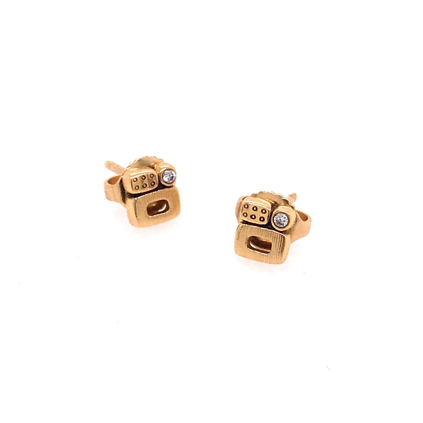18kt Yellow Gold 'Little Windows' Stud Earrings