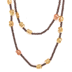 Smokey Quartz 'Nautilus' Bead Necklace