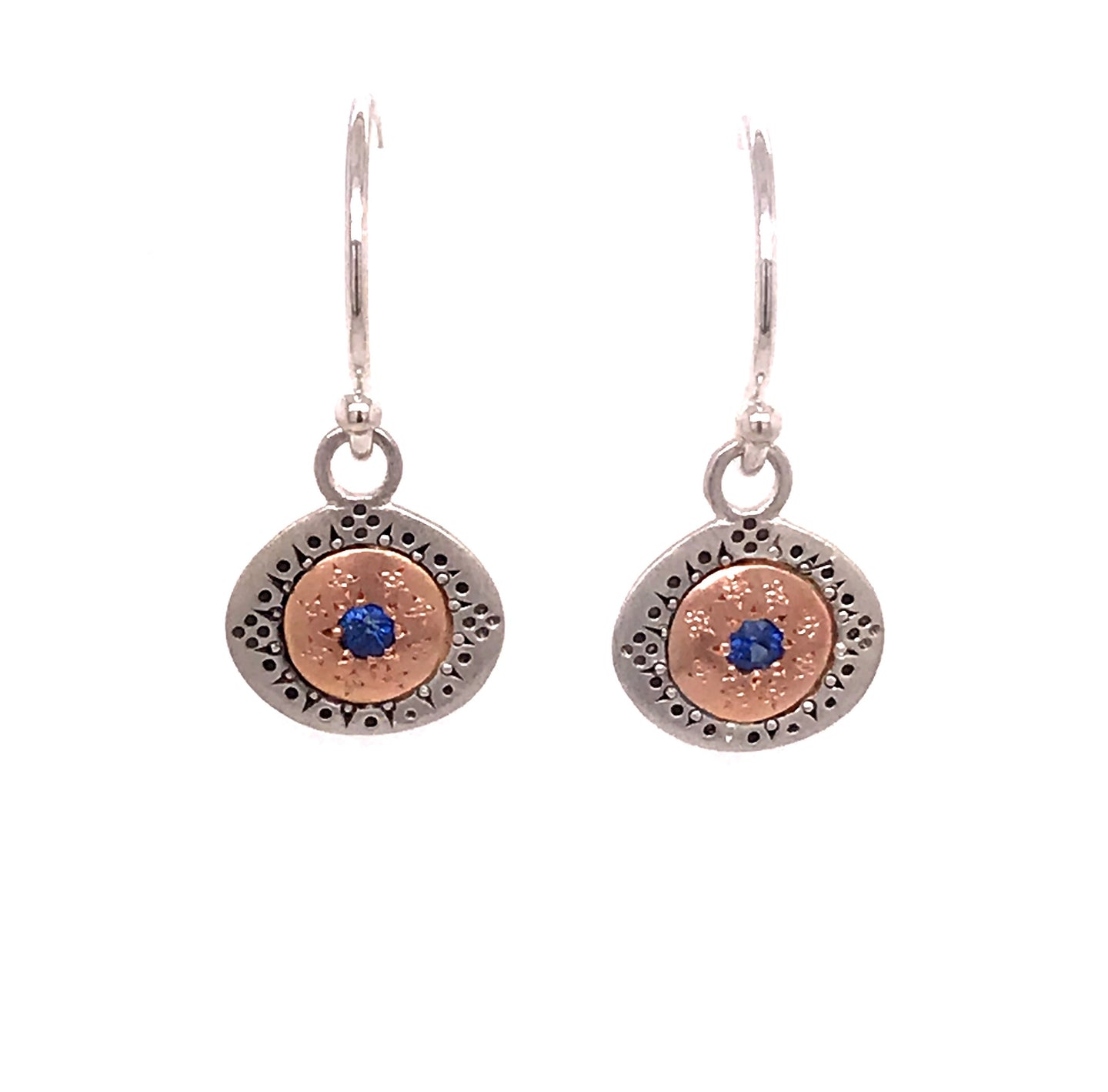 Blue Sapphire Seeds of Harmony Earrings