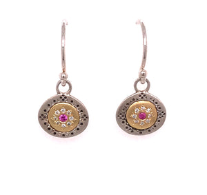 Pink Sapphire Seeds of Harmony Earrings