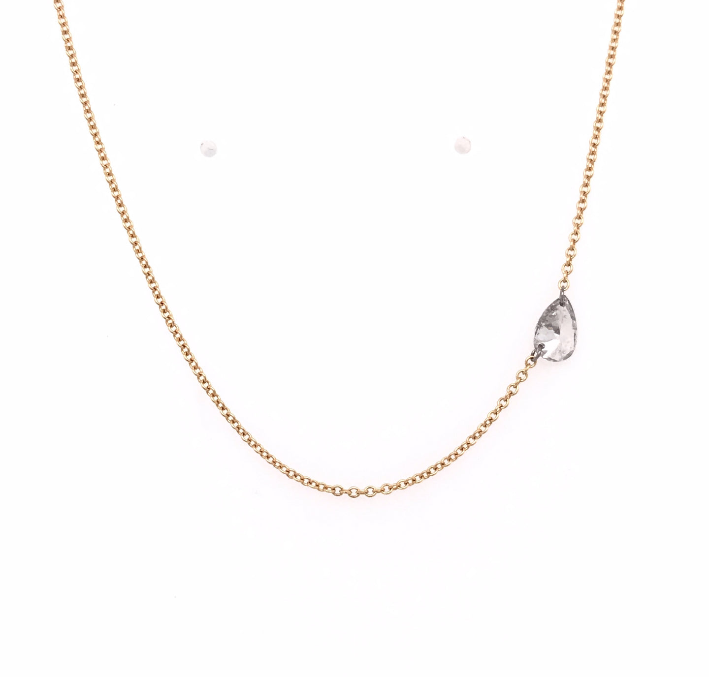 Free Set Pear Shaped Diamond Necklace