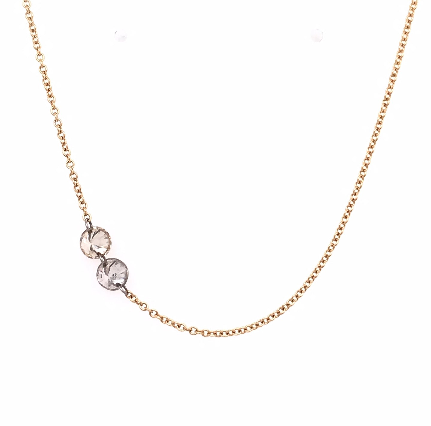 Inverted Free Set Diamond Necklace