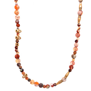 Fire Opal in Matrix Necklace