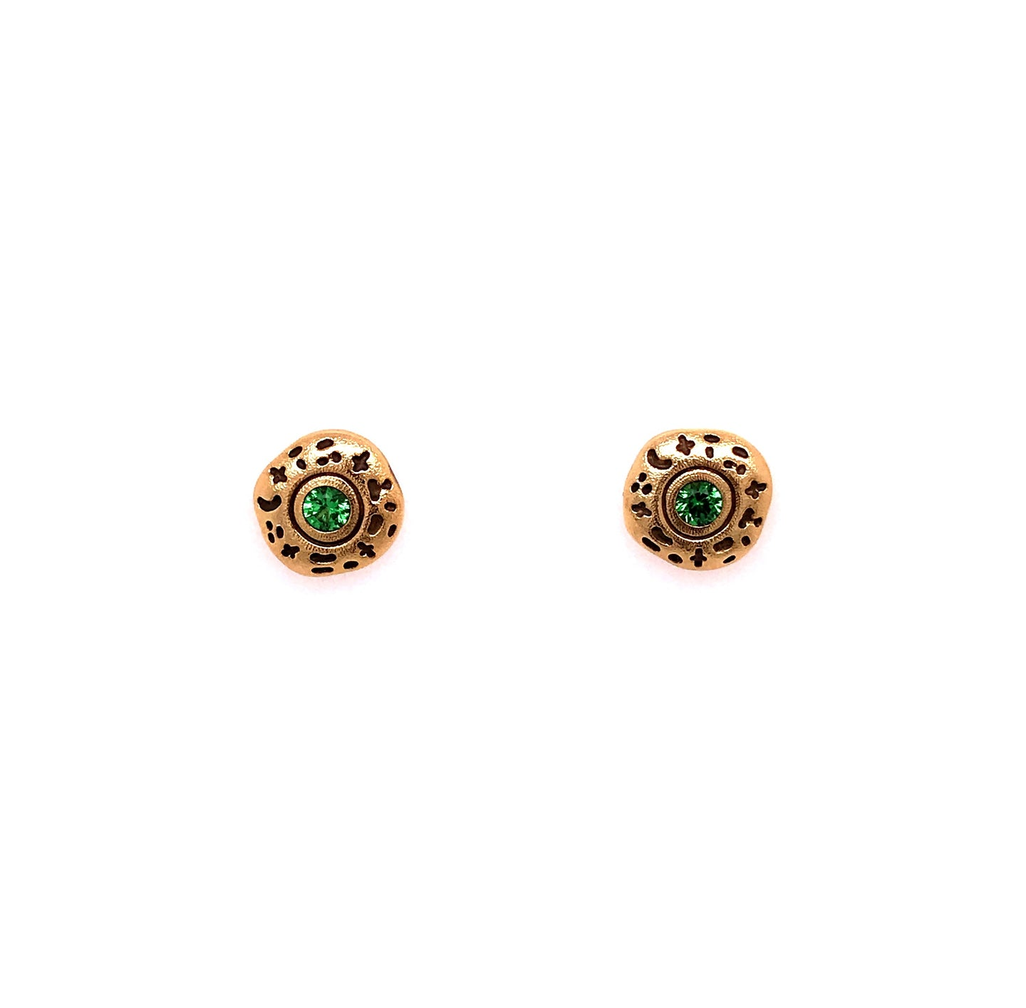 Tsavorite Garnet 'Flora' Earrings