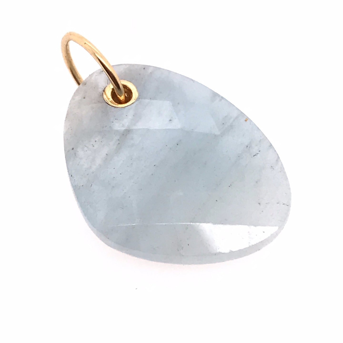 Drilled Aquamarine Charm