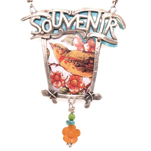 Souvenir Vintage Tin Necklace
