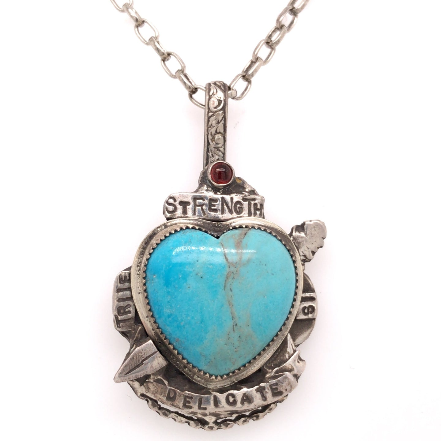True Strength is Delicate Pendant Necklace