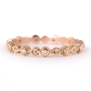 Wood Nymph Leaf eternity Band