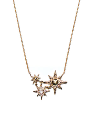 Aztec Starburst Cluster Necklace | Art + Soul Gallery