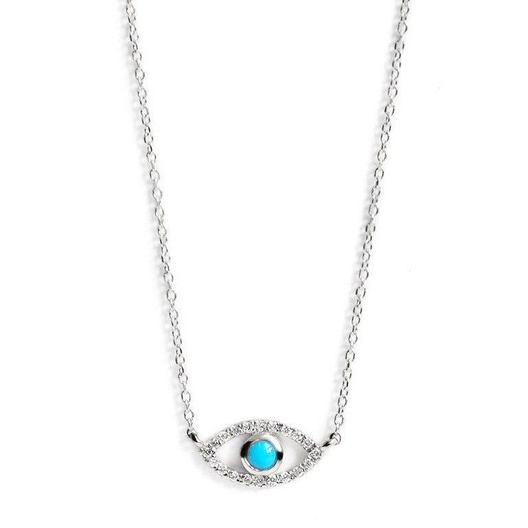 Classique Pave Evil Eye Necklace | Art + Soul Gallery