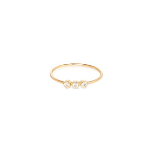 14K 3 Diamond Ring | Art + Soul Gallery