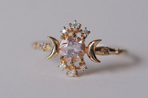 Wandering Star Morganite Ring