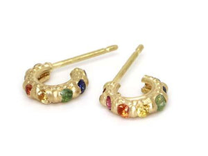Rainbow Tiny Hoops