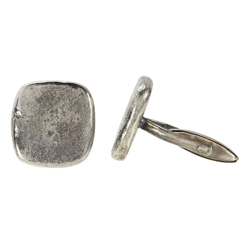 Distressed Sterling Silver Cufflinks