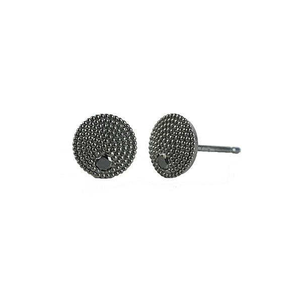 Adie Black Diamond Studs | Art + Soul Gallery