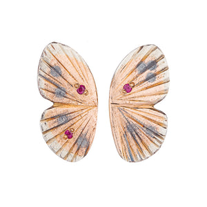 Baby Asterope Studs With Rubies | Art + Soul Gallery