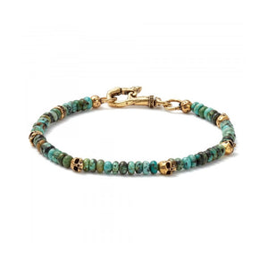 Brass and Turquoise Skull Bracelet | Art + Soul Gallery