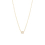 Load image into Gallery viewer, Small Three Step Baguette Diamond Necklace