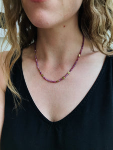Ruby Flora Bead Necklace