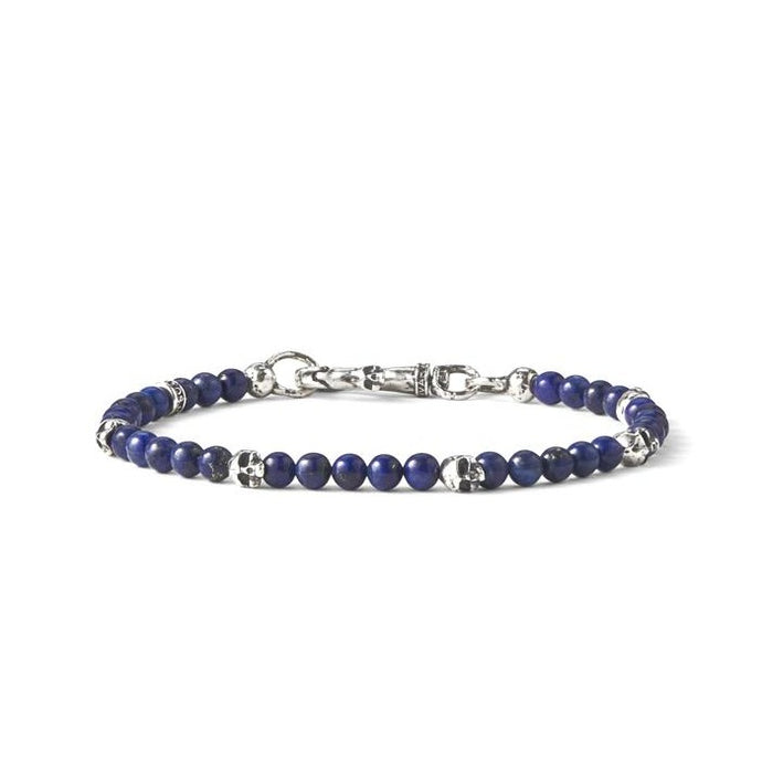 Sterling and Blue Tiger's Eye Bracelet | Art + Soul Gallery