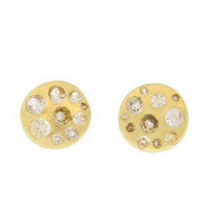 Large Crystal Disc Studs