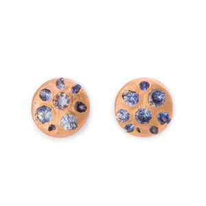 Small Crystal Disc Studs
