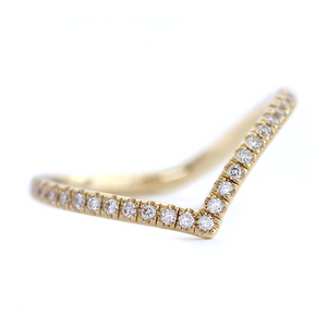Chevron Half Diamond Eternity Ring