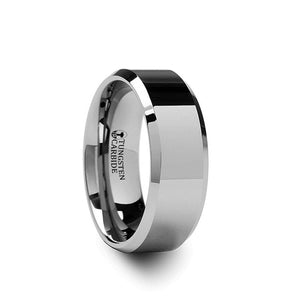 Corinthian Beveled Tungsten Carbide Band | Art + Soul Gallery