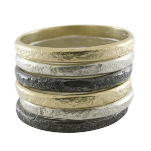 Weathered Stacking Band