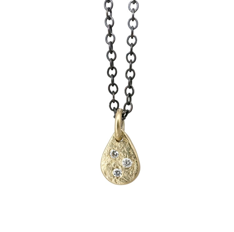 Weathered Diamond Droplet Necklace | Art + Soul Gallery