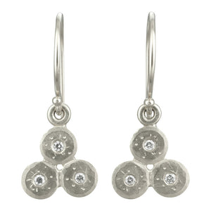 Triple Treasure Coin Diamond Earrings | Art + Soul Gallery