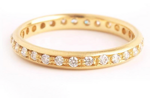 Diamond Single Row Band | Art + Soul Gallery