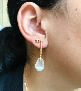 Baby Geode 'Sticks and Stones' Earrings