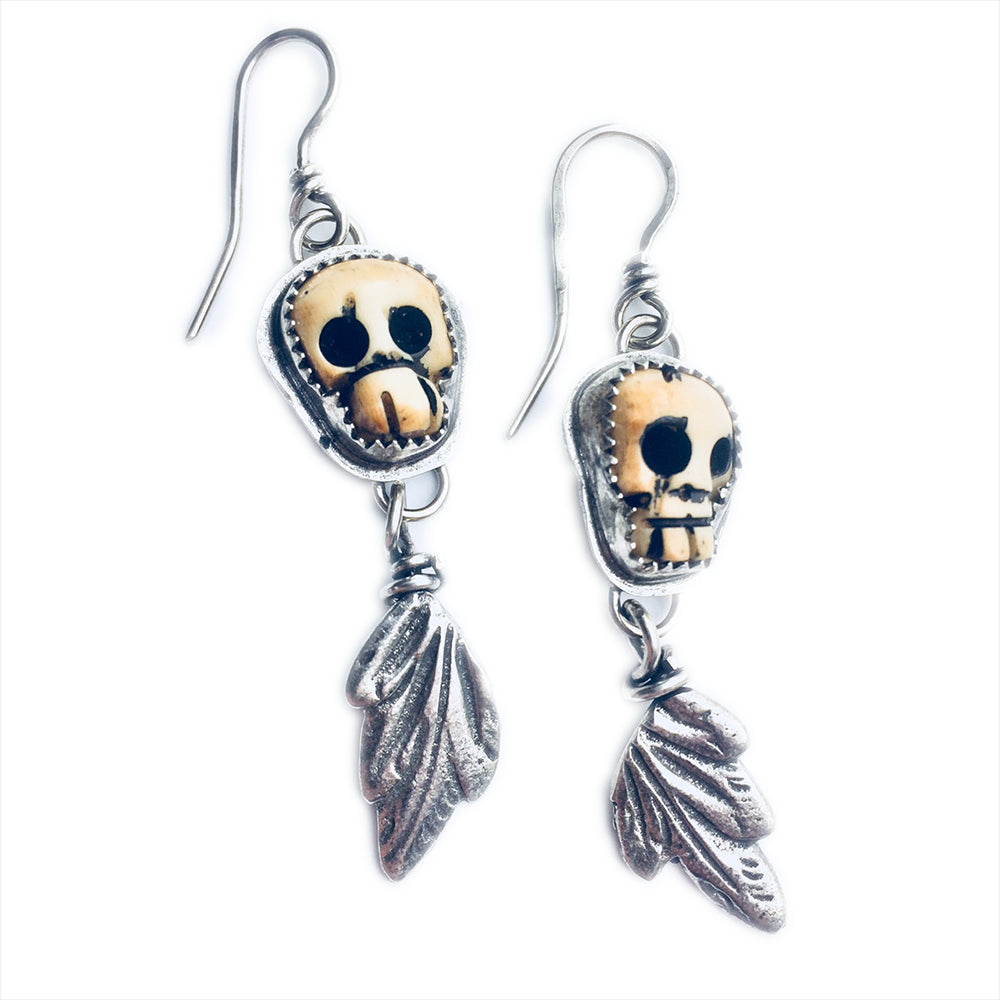 Kindred Spirits Skull Dangles | Art + Soul Gallery
