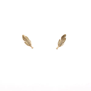 Small Feather Stud Earrings | Art + Soul Gallery