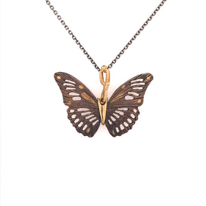 Rose Bronze Monarch Butterfly Pendant | Art + Soul Gallery