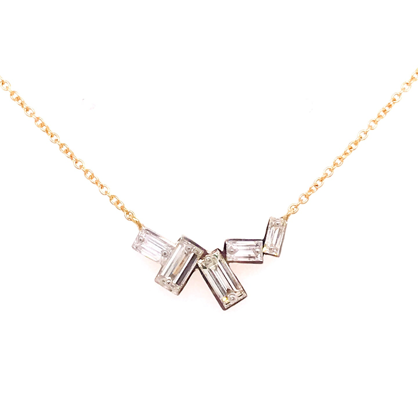 Baguette Diamond Necklace