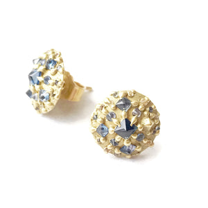 Sapphire Dome Stud Earrings