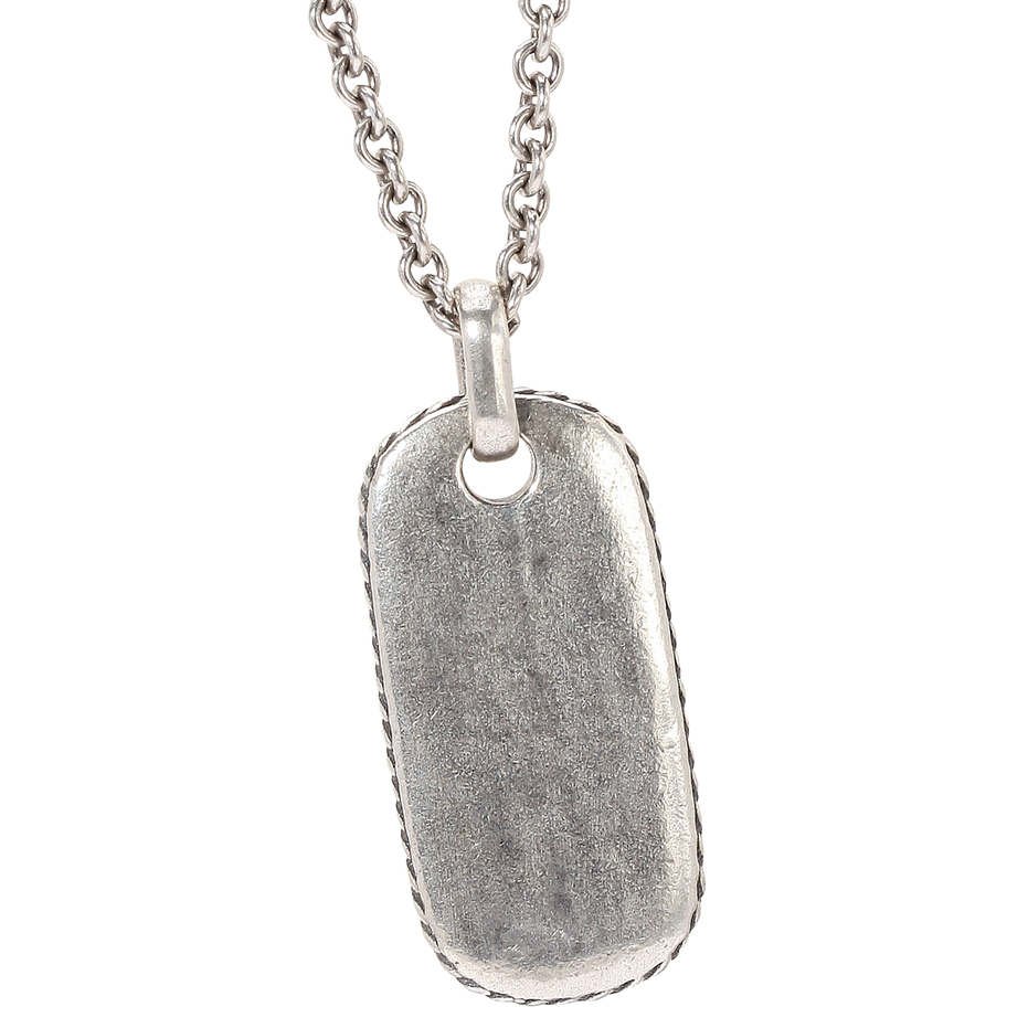 Distressed Dog Tag Necklace