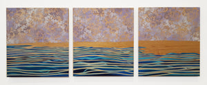 Lavendar Lavation Triptych | Art + Soul Gallery