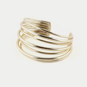 Gold Layered Strand Cuff | Art + Soul Gallery