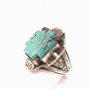 Love Life with Turquoise Cross Ring | Art + Soul Gallery