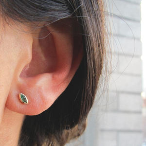 Emerald Bud Earrings