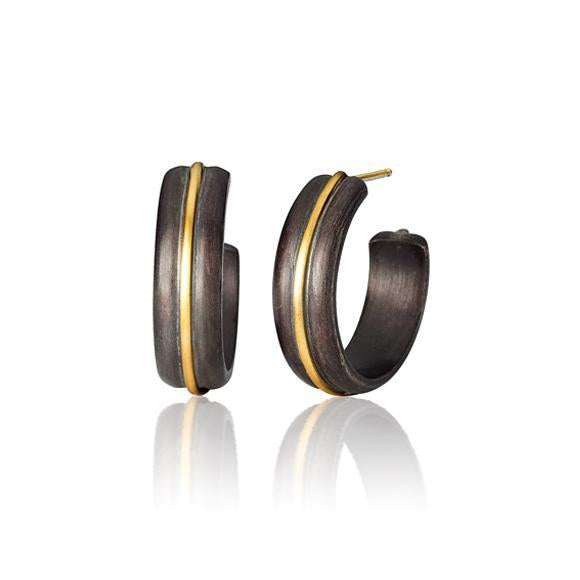 Mae Silver and Gold Hoops | Art + Soul Gallery
