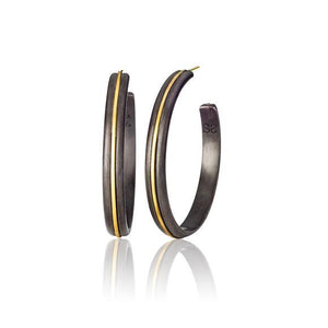 Mae Silver and Gold Large Hoops | Art + Soul Gallery