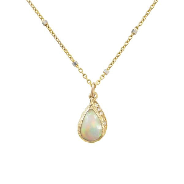 Raindrop Opal Necklace