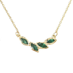 Petal Emerald Necklace